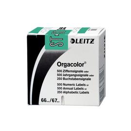 Buchstabensignale ST Orgacolor auf Rolle 30x23mm türkis selbstklebend Leitz 6637-10-00 (SCH=250 STÜCK) Produktbild