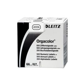 Ziffernsignale 0 Orgacolor auf Rolle 30x23mm weiß selbstklebend Leitz 6600-10-00 (SCH=500 STÜCK) Produktbild
