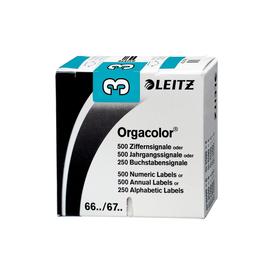 Ziffernsignale 3 Orgacolor auf Rolle 30x23mm hellblau selbstklebend Leitz 6603-10-00 (SCH=500 STÜCK) Produktbild