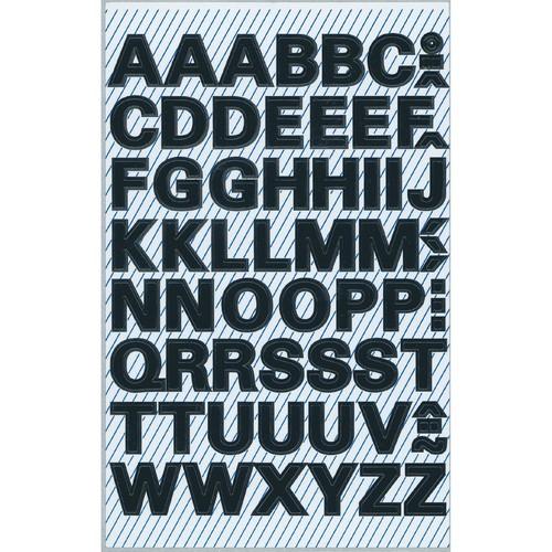 Buchstaben-Etiketten Alphabet 9,5mm schwarz wetterfest selbstklebend Zweckform 3780 (BTL=140 STÜCK) Produktbild Additional View 1 L