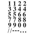 Zahlen-Etiketten 0-9 15,5mm schwarz/ transparent Zweckform 3724 (BTL=40 STÜCK) Produktbild Additional View 1 S