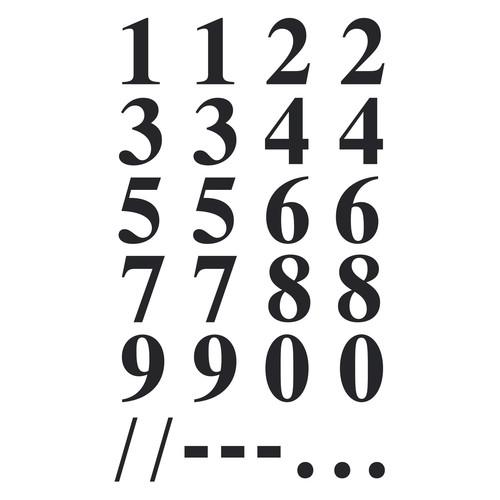 Zahlen-Etiketten 0-9 15,5mm schwarz/ transparent Zweckform 3724 (BTL=40 STÜCK) Produktbild Additional View 1 L