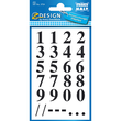 Zahlen-Etiketten 0-9 15,5mm schwarz/ transparent Zweckform 3724 (BTL=40 STÜCK) Produktbild