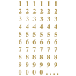 Zahlen-Etiketten 0-9 7,5mm gold/ transparent Zweckform 3728 (BTL=124 STÜCK) Produktbild Additional View 1 S