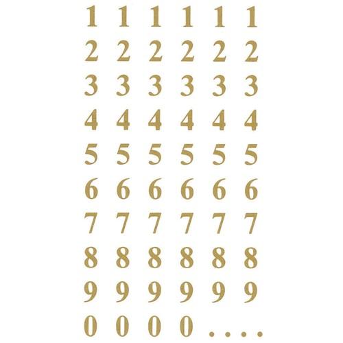 Zahlen-Etiketten 0-9 7,5mm gold/ transparent Zweckform 3728 (BTL=124 STÜCK) Produktbild Additional View 1 L