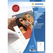 Fotohüllen Fotophan A4 für 10x15cm hoch weiß Kunststoff Herma 7585 (PACK=10 STÜCK) Produktbild