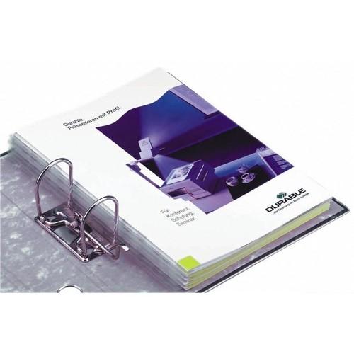 Abheftstreifen Filefix für A4 2,5x29,5cm transparent selbstklebend Durable 8061-19 (PACK=10 STÜCK) Produktbild Front View L