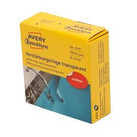 Lochverstärkungsringe im Spender transparent Zweckform 3510 (PACK=500 STÜCK) Produktbild