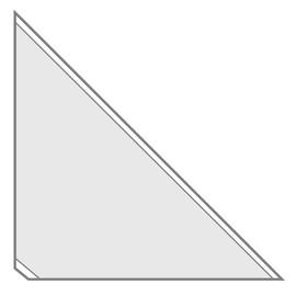 Dreiecktaschen Velocoll 100x100mm transparent selbstklebend Veloflex 2210000 (PACK=8 STÜCK) Produktbild