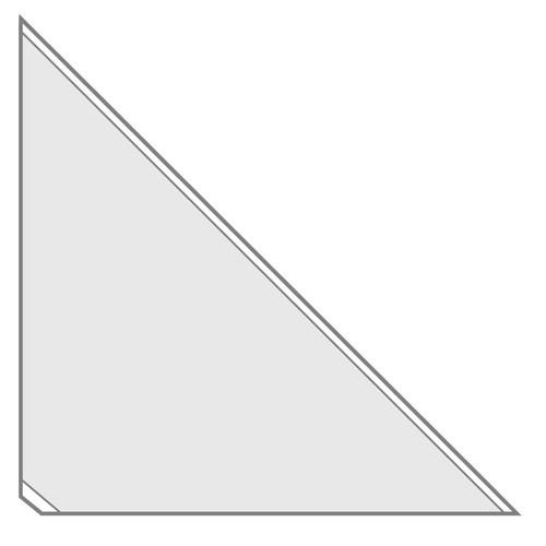Dreiecktaschen Velocoll 170x170mm transparent selbstklebend Veloflex 2217100 (PACK=100 STÜCK) Produktbild Front View L