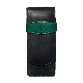 Lederetui TG32 schwarz-grün für 3 Schreibgeräte Pelikan 924092 Produktbild