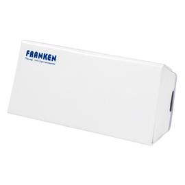 Tafelwischer mit Vließ 160x75x45mm weiß magnetisch Franken Z1921 Produktbild