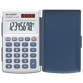 Taschenrechner 8-stelliges LCD-Display 64x105x11mm Solar-/Batteriebetrieb Sharp EL-243S Produktbild