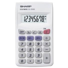 Taschenrechner 8-stelliges LCD-Display 62x105x8mm Batteriebetrieb Sharp EL-233S Produktbild