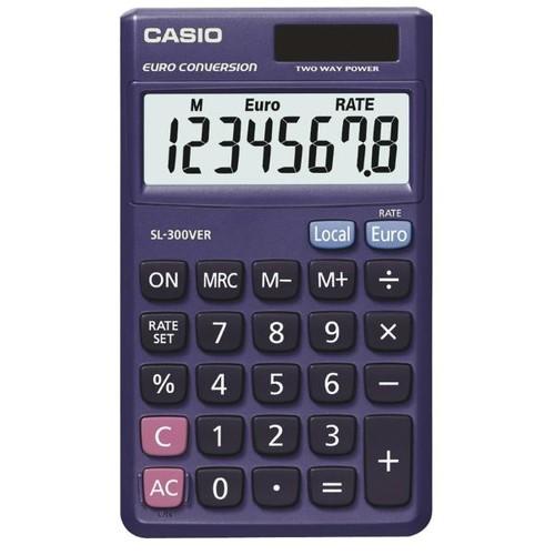 Taschenrechner 8-stelliges LC-Display 7,5x70x118,5mm Solar-/Batteriebetrieb Casio SL-300 VER Produktbild Front View L