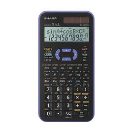 Taschenrechner 2-zeiliges Display 399 Funktionen 80x158x14mm Solar-/Batteriebetrieb Sharp EL-520XG Produktbild