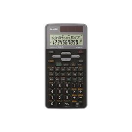Taschenrechner 2-zeiliges Display 419 Funktionen 80x158x14mm Solar-/Batteriebetrieb Sharp EL-520TG Produktbild