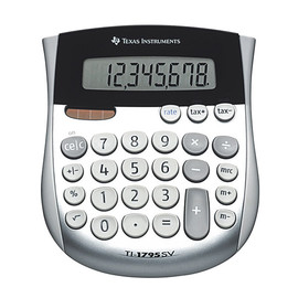 Taschenrechner 8-stelliges Display abgerundet Solar-/Batteriebetrieb Texas Instruments TI-1795 SV Produktbild