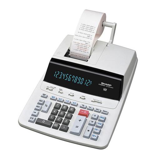 Tischrechner 12-stelliges Display 250x345x87mm zweifarbiger Druck Netzbetrieb Sharp CS-2635 RHGYSE Produktbild Front View L
