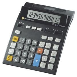 Tischrechner 12-stelliges LCD-Display 160x202x35mm Solar-/Batteriebetrieb Triumph Adler J-1210 Solar Produktbild