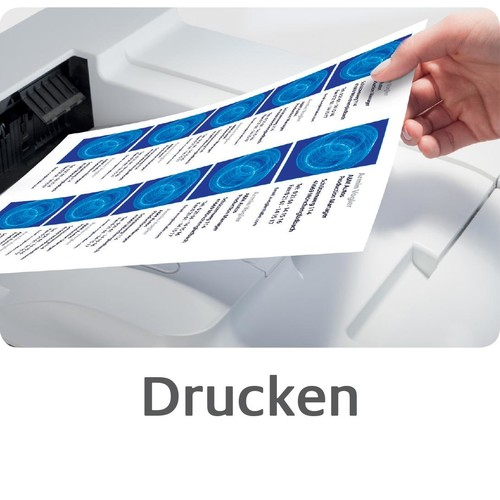 Visitenkarten Inkjet+Laser+Kopier A4 85x54mm 185g weiß beidseitig bedruckbar Microperforation Zweckform C32010-10 (PACK=100 STÜCK) Produktbild Additional View 6 L