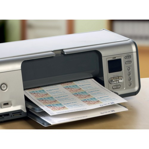 Visitenkarten Inkjet 85x54mm 200g auf A4 Bögen weiß Microperforation Zweckform C32014-25 (PACK=250 STÜCK) Produktbild Additional View 4 L