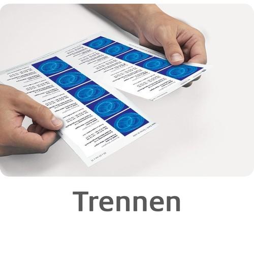 Visitenkarten Inkjet 85x54mm 200g auf A4 Bögen weiß Microperforation Zweckform C32014-25 (PACK=250 STÜCK) Produktbild Additional View 7 L