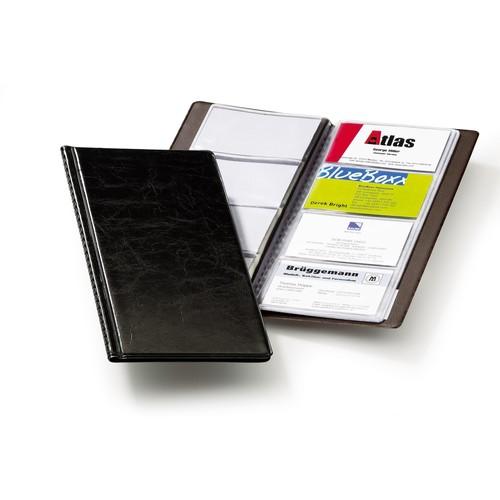 Visitenkartenalbum Visifix 96 115x253mm für 96Karten schwarz Durable 2380-01 Produktbild Front View L