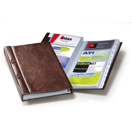 Visitenkartenalbum Visifix für 200Karten braun Durable 2382-11 Produktbild Front View L
