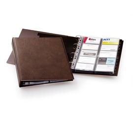 Visitenkartenringbuch mit Register Visifix erweiterbar A4 für 400Karten braun Durable 2384-11 Produktbild