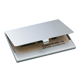 Visitenkarten-Etui 92x63x5mm für 15Karten silber-matt Aluminium Sigel VZ135 Produktbild