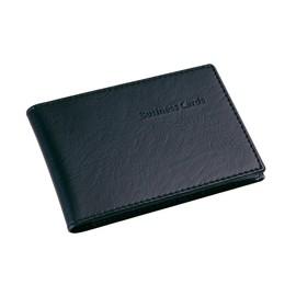 Visitenkartenmappe Lederoptik für 40Karten schwarz Kunststoff Sigel VZ170 Produktbild