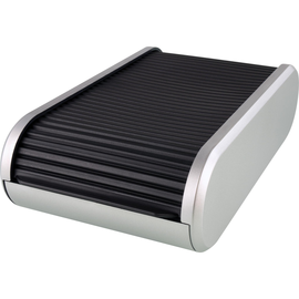 Visitenkartenbox Silver 136x240x67mm schwarz/silber Kunststoff Helit H6220499 Produktbild