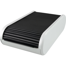 Visitenkartenbox Linear 136x240x67mm schwarz/lichtgrau Kunststoff Helit H6218098 Produktbild