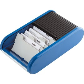 Visitenkartenbox Linear 136x240x67mm schwarz/blau Kunststoff Helit H6218093 Produktbild