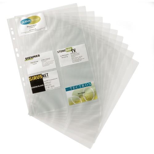 Visitenkartenhüllen Für Visifix 2384 Und 2388 A4 Für 200karten Transparent Pp Durable 2389 19 Btl 10 Stück