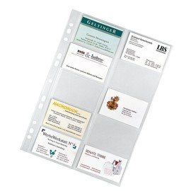 Visitenkartenhüllen A4 für 200Karten glasklar PP Veloflex 5341000 (PACK=10 STÜCK) Produktbild