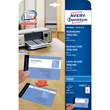 Visitenkarten Inkjet 85x54mm auf A4 Bögen 260g weiß matt beidseitig bedruck- bar glatte Kanten Zweckform C32015-25 (PACK=200 STÜCK) Produktbild Additional View 1 S