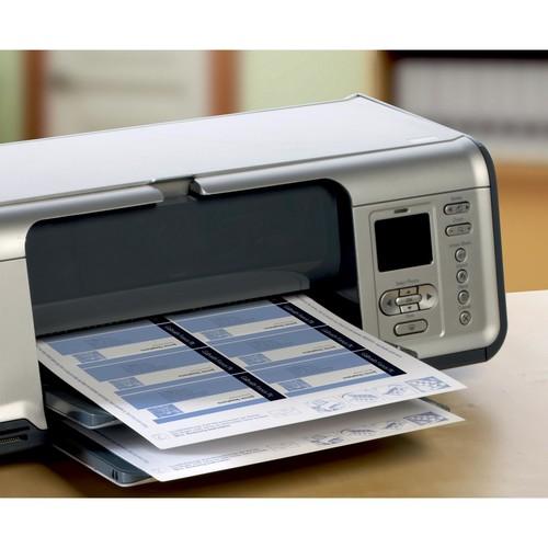 Visitenkarten Inkjet 85x54mm auf A4 Bögen 260g weiß matt beidseitig bedruck- bar glatte Kanten Zweckform C32015-25 (PACK=200 STÜCK) Produktbild Additional View 4 L