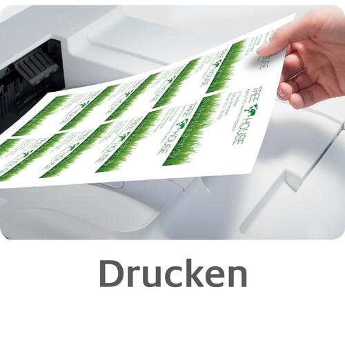 Visitenkarten Inkjet 85x54mm auf A4 Bögen 260g weiß matt beidseitig bedruck- bar glatte Kanten Zweckform C32015-25 (PACK=200 STÜCK) Produktbild Additional View 6 L