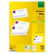Visitenkarten Inkjet+Laser+Kopier 85x55mm 200g weiß Microperforation Sigel DP839 (PACK=150 STÜCK) Produktbild