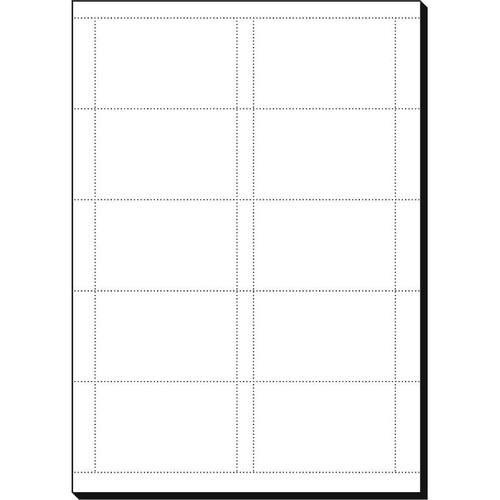 Visitenkarten Inkjet+Laser+Kopier 85x55mm 200g weiß Microperforation Sigel DP839 (PACK=150 STÜCK) Produktbild Additional View 1 L