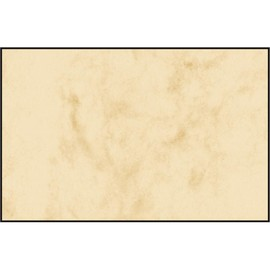 Visitenkarten Inkjet+Laser+Kopier 85x55mm 225g marmor beige glatte Kanten Sigel DP744 (PACK=100 STÜCK) Produktbild