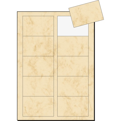 Visitenkarten Inkjet+Laser+Kopier 85x55mm 225g marmor beige glatte Kanten Sigel DP744 (PACK=100 STÜCK) Produktbild Additional View 2 L