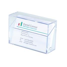 Visitenkartenbox 95x60x30mm für 100Karten glasklar Hartplastik Sigel VA110 Produktbild