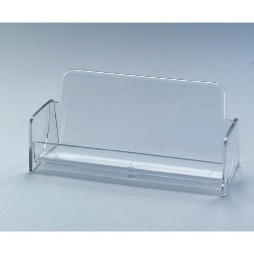 Visitenkarten-Aufsteller mit 1 Fach 97x85mm für 50Karten glasklar Hartplastik Sigel VA120 Produktbild
