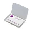Visitenkarten-Etui 100x10x70mm für 25Karten transparent/matt Kunststoff Sigel VA140 Produktbild Additional View 1 S