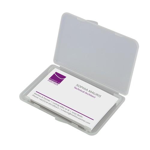 Visitenkarten-Etui 100x10x70mm für 25Karten transparent/matt Kunststoff Sigel VA140 Produktbild Additional View 1 L