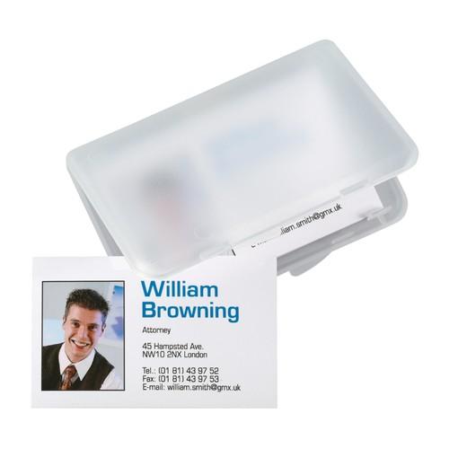 Visitenkarten-Etui 100x10x70mm für 25Karten transparent/matt Kunststoff Sigel VA140 Produktbild Additional View 2 L