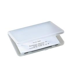 Visitenkarten-Etui 100x10x70mm für 25Karten transparent/matt Kunststoff Sigel VA140 Produktbild